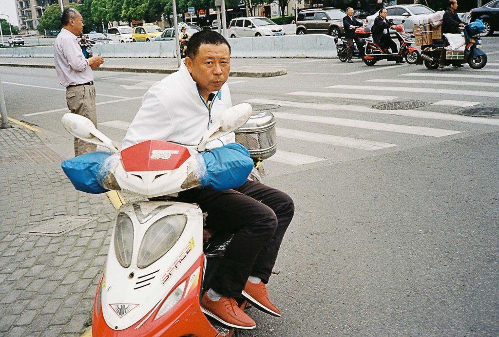Motos elétricas nas cidades da China