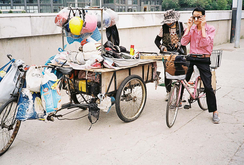 Mercado ambulante na China