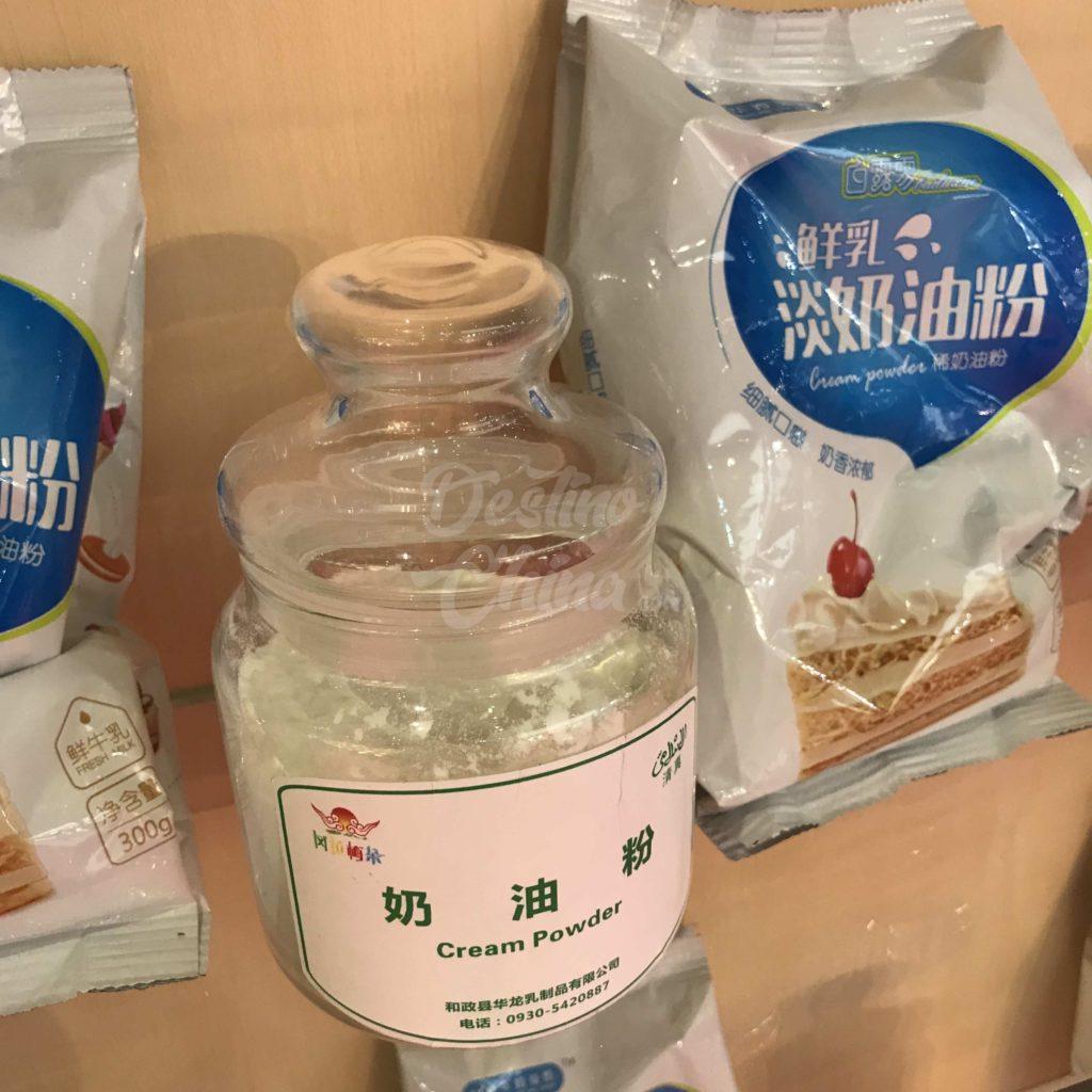 FIC  - Feira de Ingredientes e Alimentares na China Produtos alimentícios em exposição para venda na China