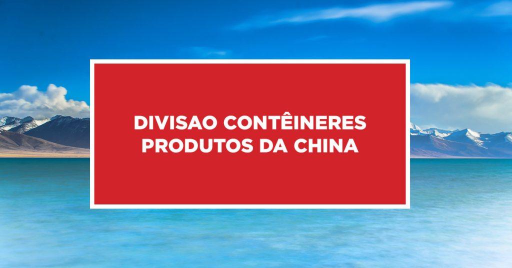 Divisao contêineres produtos da China Processo de divisão de contêineres com produtos da China