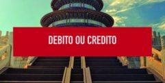 Uso de cartão débito  ou crédito